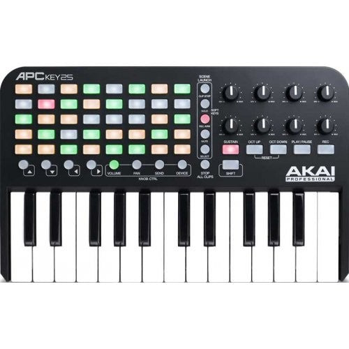 Akai Pro APC Key25 Ableton live controller with keyboard