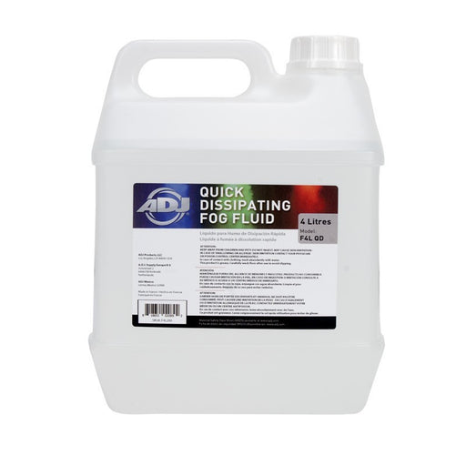 ADJ F4L-QD (4L Fast Dispersing Fog Fluid - Water base)