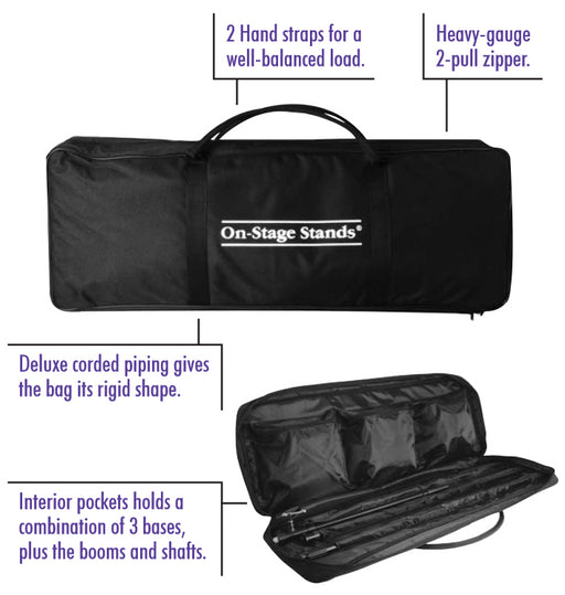 On Stage MSB6500 Mic Stand Bag