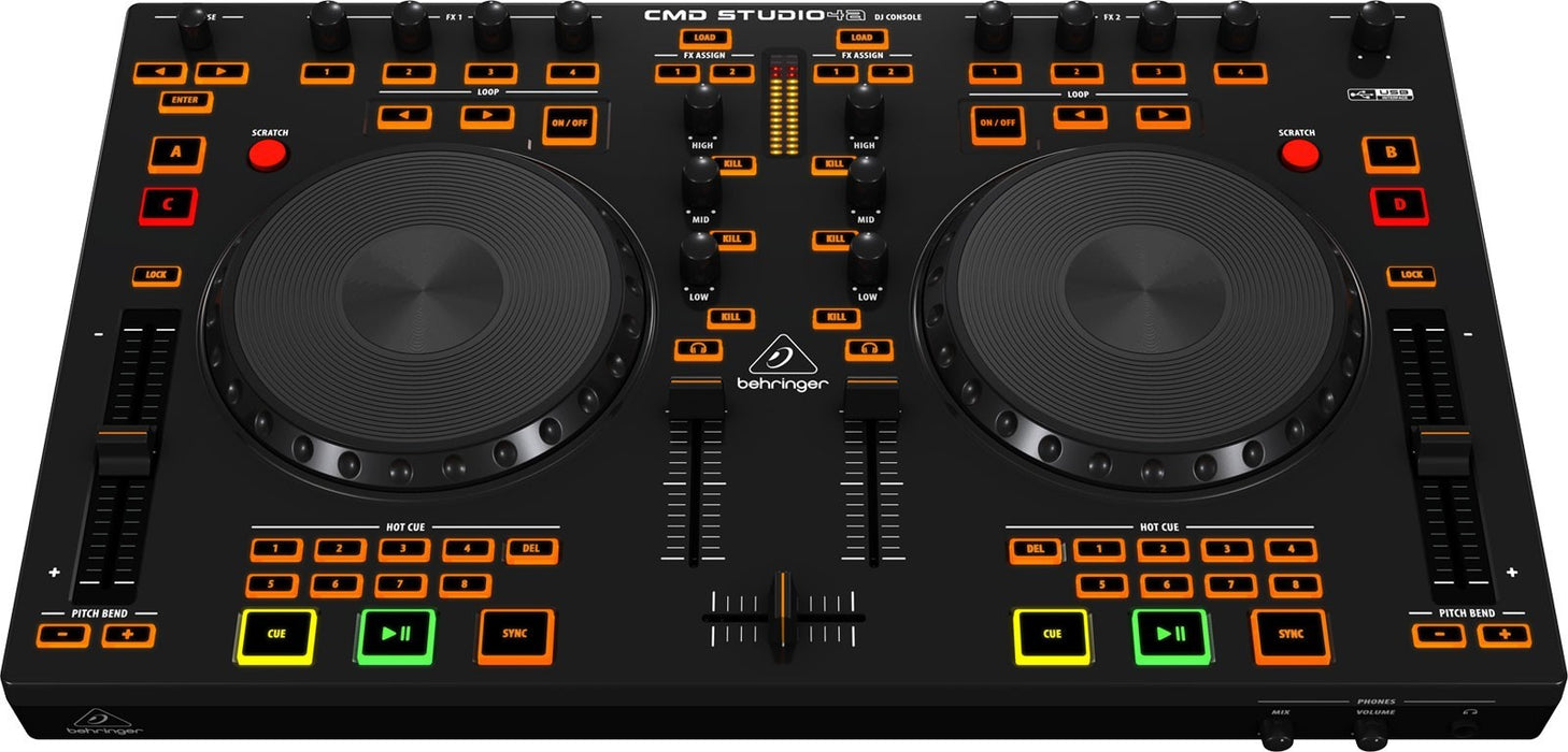 Behringer Cmd Studio 4A Dj Controller And Audio Interface-Behringer-DJ GEAR CANADA