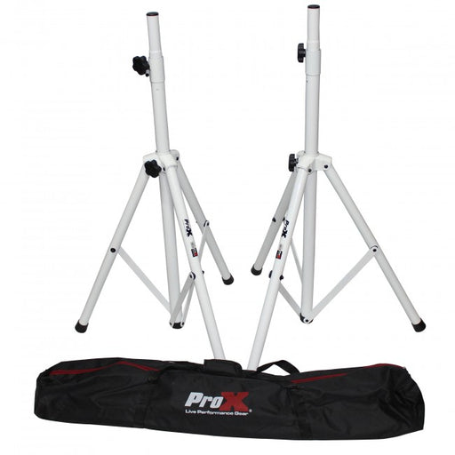 ProX T-SS28P Speaker Stand (White Set)