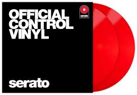 SERATO SER-P-VINYL-RED RED SCRATCH LIVE PERFORMANCE SERIES CONTROL VINYL (PAIR)