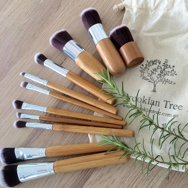 Bamboo Eco Make Up Brush Set - Brooklan Tree