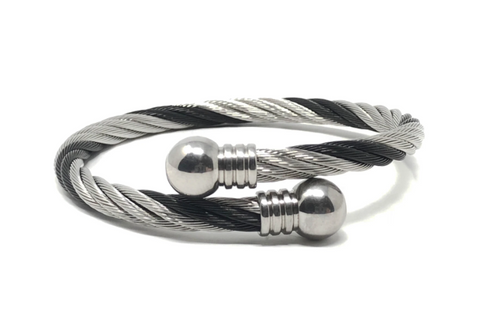 Two-Toned Twisted Expander Bracelet