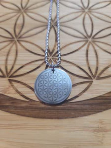 Flower of Life Pendant with Chain- Stainless Steel