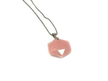 Rose Quartz Geometric Star Necklace