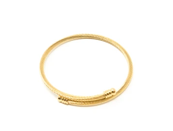 Gold Twisted Expander Bracelet