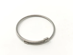 Stainless Steel Twisted Expander Bracelet