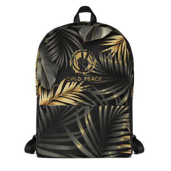 Black & Gold Leaf Backpack