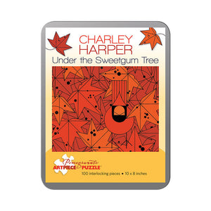 Pomegranate Puzzles - Charley Harper: Under the Sweetgum Tree (100 pcs)