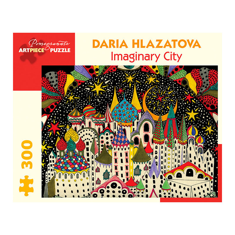 Pomegranate Puzzles - Daria Hlazatova: Imaginary City (300 pcs)