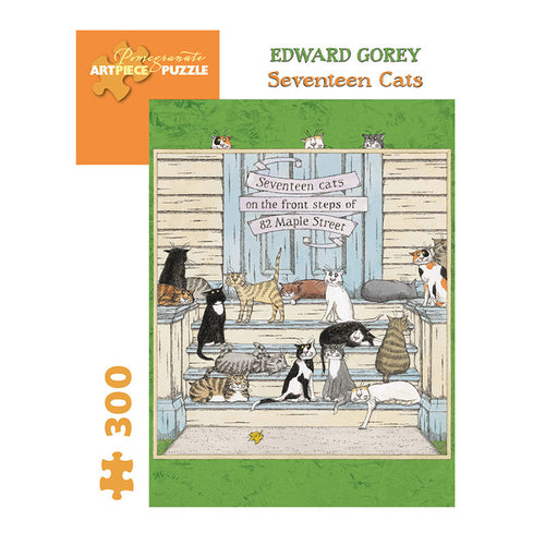 Pomegranate Puzzles - Edward Gorey: Seventeen Cats (300 pcs)