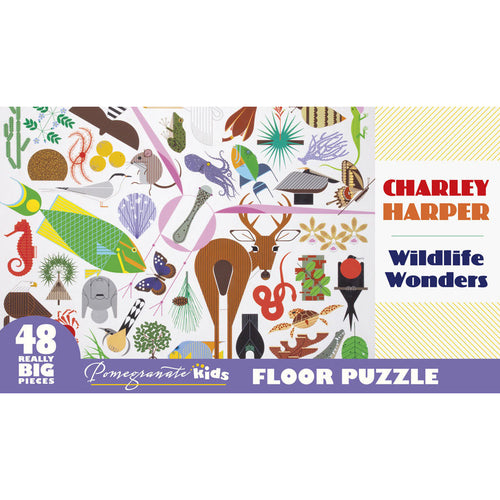 Pomegranate Puzzles - Charley Harper: Wildlife Wonders Floor Puzzle (48 pcs)
