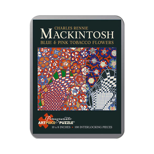 Pomegranate Puzzles - Charles Rennie Mackintosh: Blue and Pink Tobacco Flowers (100 pcs)