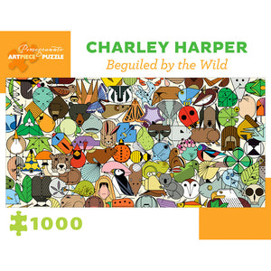 Pomegranate Puzzles - Charley Harper: Beguiled by Wild (1000 pcs)