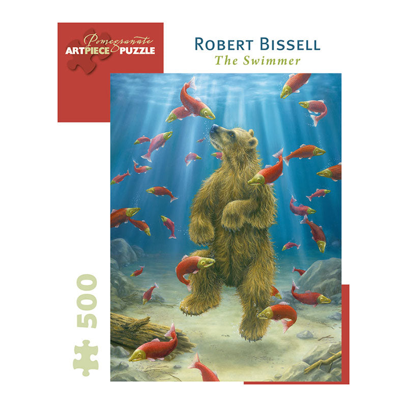 Pomegranate Puzzles - Robert Bissell: The Swimmer (500 pcs)