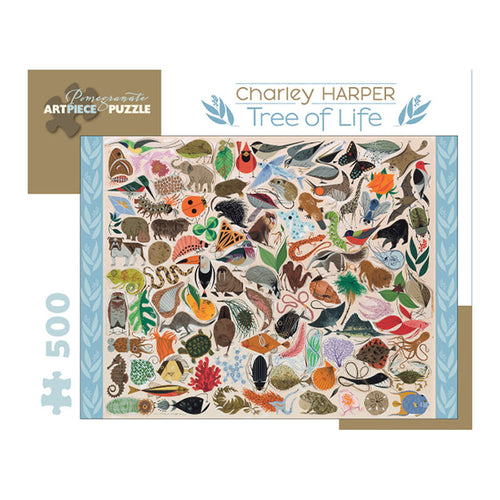 Pomegranate Puzzles - Charley Harper: Tree of Life (500 pcs)