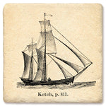 "Tipsy Coasters - Natural Limestone Coaster ""Ketch"""