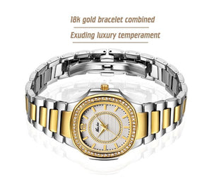 Women's Luxury Shock Water-Resistant Watch 18k Gold Plated