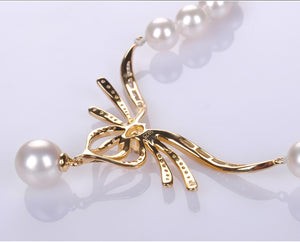 Japanese Akoya Pearls Butterfly Design Necklace