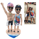 Custom Fully Customizable 2 person Bobbleheads