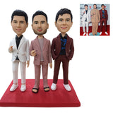 Custom Fully Customizable 3 person Bobbleheads