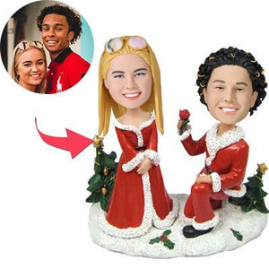 Custom Christmas Gift Will You Marry Me Bobbleheads With Engraved Text
