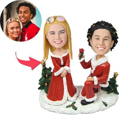 Custom Christmas Gift Will You Marry Me Bobbleheads