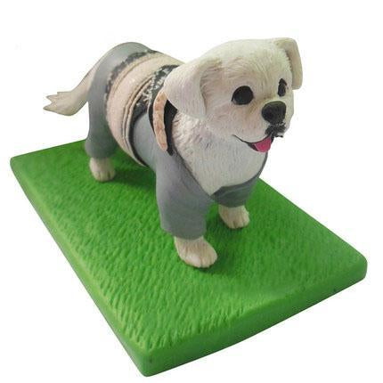 Custom Chinese Rural Dog Pet Bobbleheads With Engraved Text
