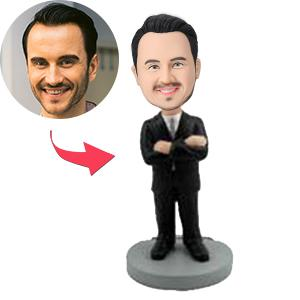 Custom Male Executive With Arms Crossed Bobbleheads