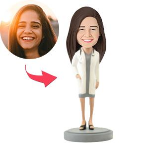 Custom Female Doctor in Dress Bobbleheads