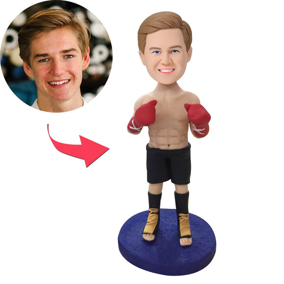 Custom Boxer Bobbleheads With Engraved Text