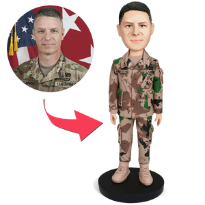 Custom Male Soldier Bobbleheads