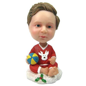 Custom Christmas Gift Baby Bobbleheads With Engraved Text