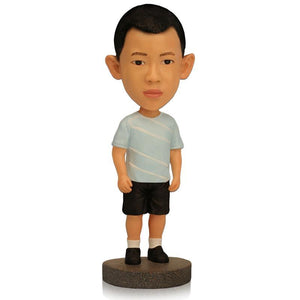 Custom Small Boy With Casual Shirt Bobbleheads