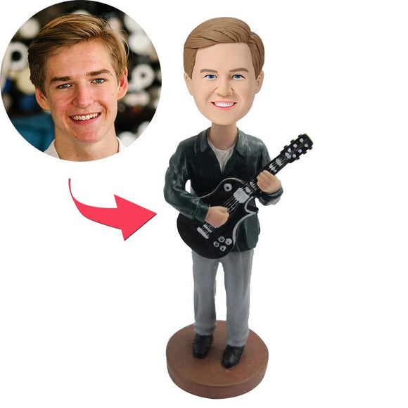 Custom Guitarist Bobbleheads With Engraved Text