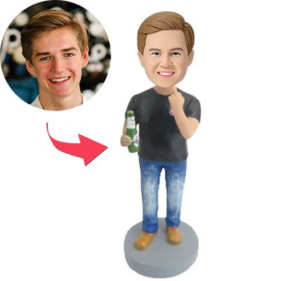 Custom Beer Is Life Bobbleheads With Engraved Text