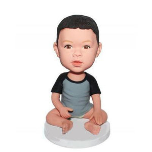 Custom Bady Seat On The Floor Bobbleheads With Engraved Text