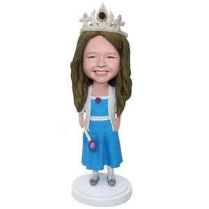 Custom Little Princess Bobbleheads With Engraved Text