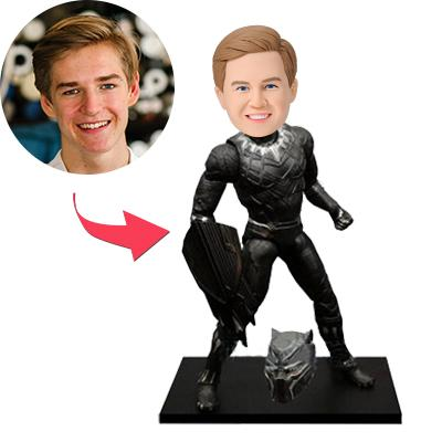 Custom Black Panther Bobbleheads