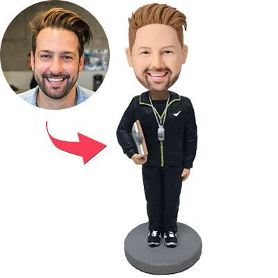 Custom Male Coach Bobbleheads