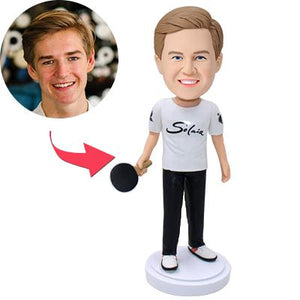 Custom Ping Pang Player Bobbleheads With Engraved Text