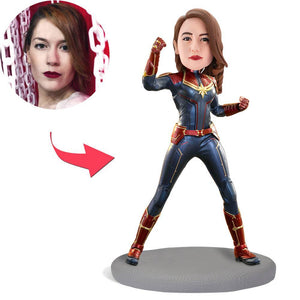 Custom Captain Marvel Popular Bobbleheads With Engraved Text