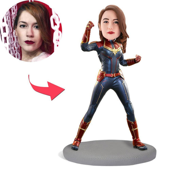 Custom Captain Marvel Bobbleheads