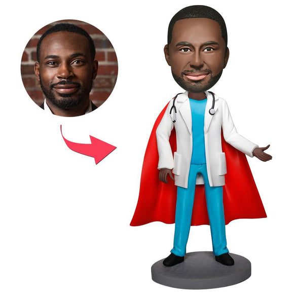 Custom Super Doctor With Stethoscope Bobbleheads