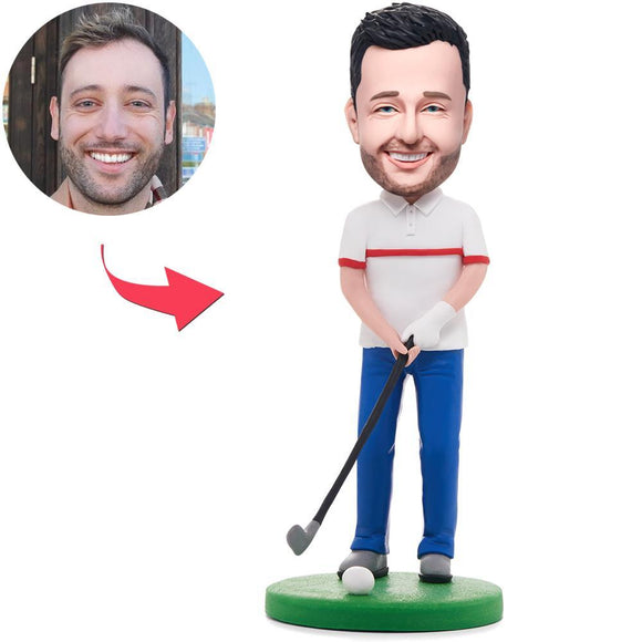 Custom Happy Golfer Man Bobbleheads