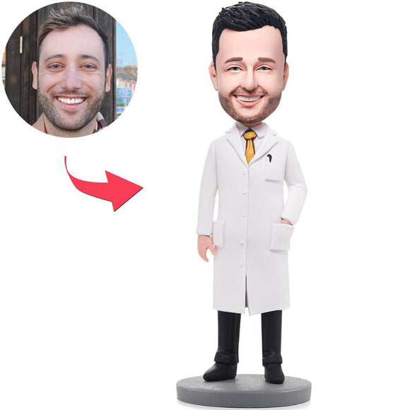 Custom Wise Man In Lab Coat Bobbleheads