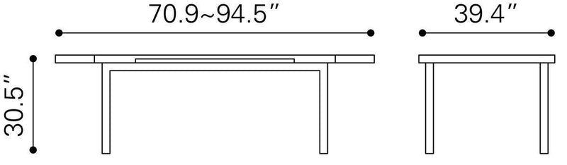Konnel Dining Table White