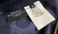 Load image into Gallery viewer, VERSACE stunning Royal Blue & Black Mini Zipper Dress Size 40 US 4 AU 8