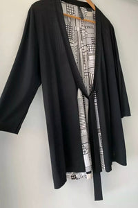 (Preloved) VISAGE NZ Divine Silk & Knit Cardigan Cardi Size L 14 16